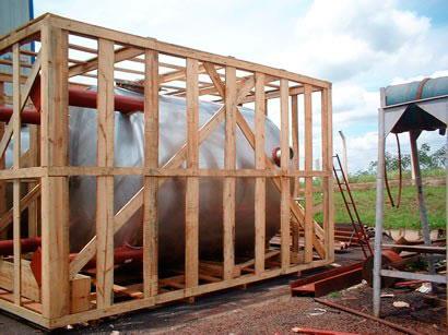 Embalagens de madeira para exportação