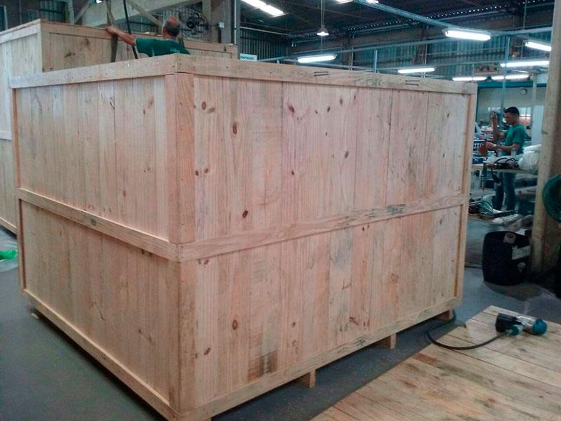 Fumigação caixa madeira