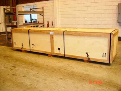 Caixa de madeira para industria