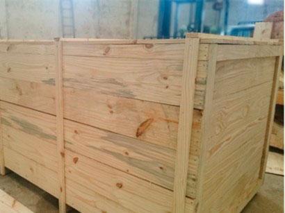 Embalagens industriais de madeira