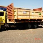 Caixa de madeira fumigada para exportação
