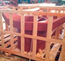 Engradado de madeira para transporte