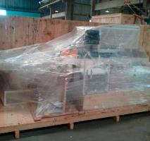 Fábrica caixote de madeira